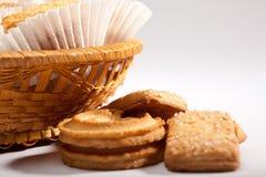 De koekjes van de vakantie op wit Stock Afbeelding
