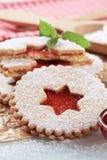 De koekjes van de zandkoek Stock Foto