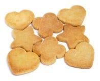 De koekjes van de zandkoek Stock Afbeelding