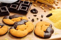 De koekjes van Halloween Stock Foto's