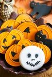 De koekjes van Halloween Stock Fotografie