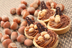 De koekjes van hazelnoten stock afbeelding