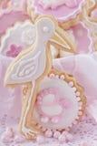 De koekjes van het babymeisje stock afbeeldingen