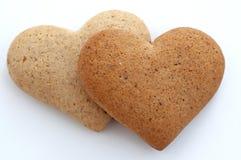 De koekjes van het hart Royalty-vrije Stock Afbeeldingen