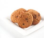 De koekjes van het havermeel met chocoladeschilfers Stock Foto