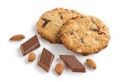 De koekjes van het havermeel op witte achtergrond Stock Afbeelding