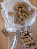 De Koekjes van het hondbeen Stock Foto's