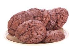 De koekjes van het ontbijt op een plaat Royalty-vrije Stock Afbeelding