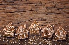 De koekjes van het peperkoekhuis Royalty-vrije Stock Afbeeldingen