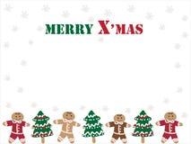 De koekjes van Kerstkaart vector illustratie
