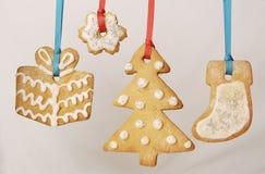 De koekjes van Kerstmis Stock Foto's
