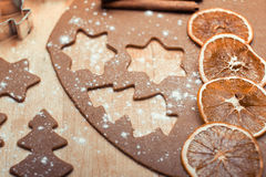 De koekjes van Kerstmis royalty-vrije stock afbeeldingen