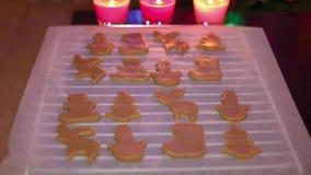 De koekjes van Kerstmis stock footage