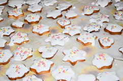 De koekjes van Kerstmis Stock Afbeelding