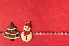 De koekjes van Kerstmis met mooi lint Royalty-vrije Stock Foto