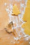 De koekjes van Kerstmis van het baksel Stock Afbeeldingen