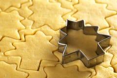 De Koekjes van Kerstmis van het baksel stock fotografie