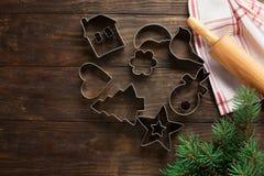 De Koekjes van Kerstmis van het baksel royalty-vrije stock fotografie