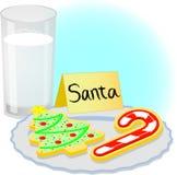 De Koekjes van Kerstmis voor Kerstman Stock Fotografie