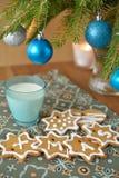 De Koekjes van Kerstmis voor Kerstman Royalty-vrije Stock Foto's