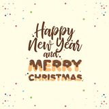 De Koekjes van de Kerstmisdoopvont het van letters voorzien Kerstmisontwerp stock illustratie