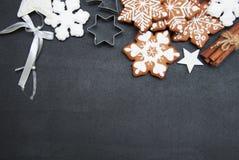De koekjes van de Kerstmisgember Stock Afbeelding