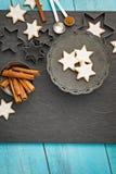 De Koekjes van de Kerstmisster Stock Afbeeldingen