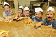 De koekjes van kleuterschoolkerstmis Royalty-vrije Stock Afbeeldingen