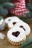 De koekjes van Linzer Stock Foto's