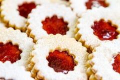 De koekjes van Linzer Royalty-vrije Stock Afbeelding