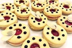 De koekjes van Linzer Stock Fotografie