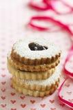 De koekjes van Linzeraugen Royalty-vrije Stock Fotografie