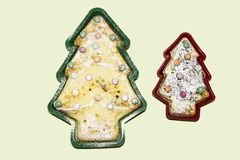 De koekjes van de nieuwjaar` s vorm Royalty-vrije Stock Foto