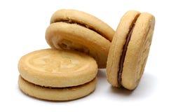 De Koekjes van Sandwitch van de chocolade stock fotografie