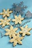 De koekjes van sneeuwvlokken Royalty-vrije Stock Afbeeldingen