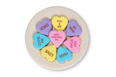De Koekjes van valentijnskaarten Stock Foto