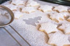 De koekjes van vanillekerstmis Stock Afbeeldingen