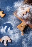 De koekjes van zandkoekkerstmis voor koppen Royalty-vrije Stock Fotografie