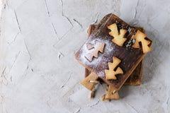 De koekjes van zandkoekkerstmis voor koppen Royalty-vrije Stock Afbeelding