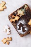 De koekjes van zandkoekkerstmis voor koppen Stock Fotografie