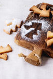 De koekjes van zandkoekkerstmis voor koppen Royalty-vrije Stock Foto