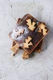De koekjes van zandkoekkerstmis voor koppen Stock Foto