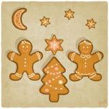 De koekjesachtergrond van de Kerstmispeperkoek royalty-vrije illustratie