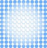 De koele blauwe punt verdwijnt achtergrond langzaam Stock Foto