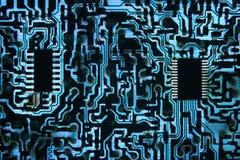 De koele Blauwe Weg van de Informatie Stock Afbeeldingen