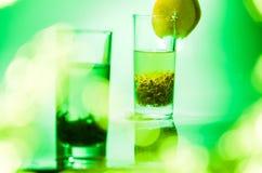De koele de zomer groene thee Royalty-vrije Stock Fotografie