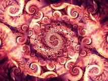 De koele Texturen van de Wervelingen van Spiralen Royalty-vrije Stock Foto's