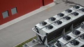 De koelere installatie van het ventilatorbiogas stock videobeelden