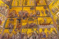 De Koepel Bapistry Heilige John Florence Italy van het bijbelmozaïek stock afbeelding