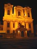 De koepel bij Nacht, Timisoara, Roemenië Royalty-vrije Stock Fotografie